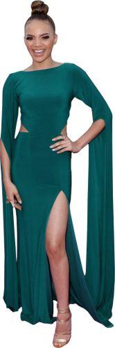 leslie-grace-green-dress