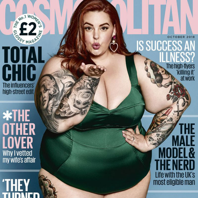 LARGE SIZE MODEL APPEARS ON THE COVER OF COSMOPOLITAN