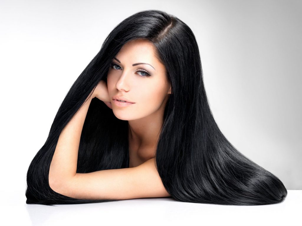 girl-model-long-hair-black-view
