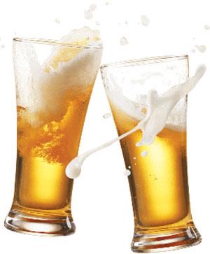 erección de la cerveza